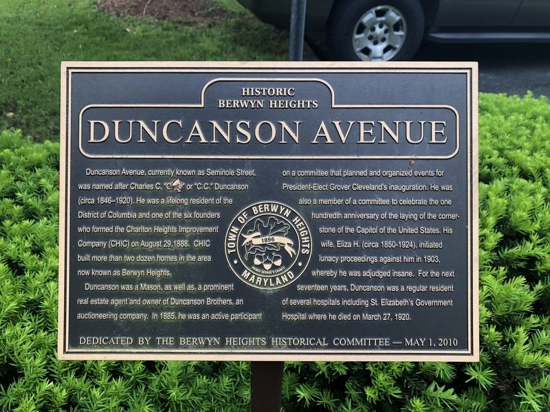 Duncanson Avenue Marker image. Click for full size.