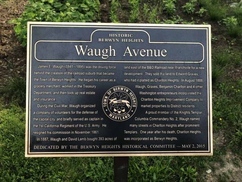 Waugh Avenue Marker image. Click for full size.