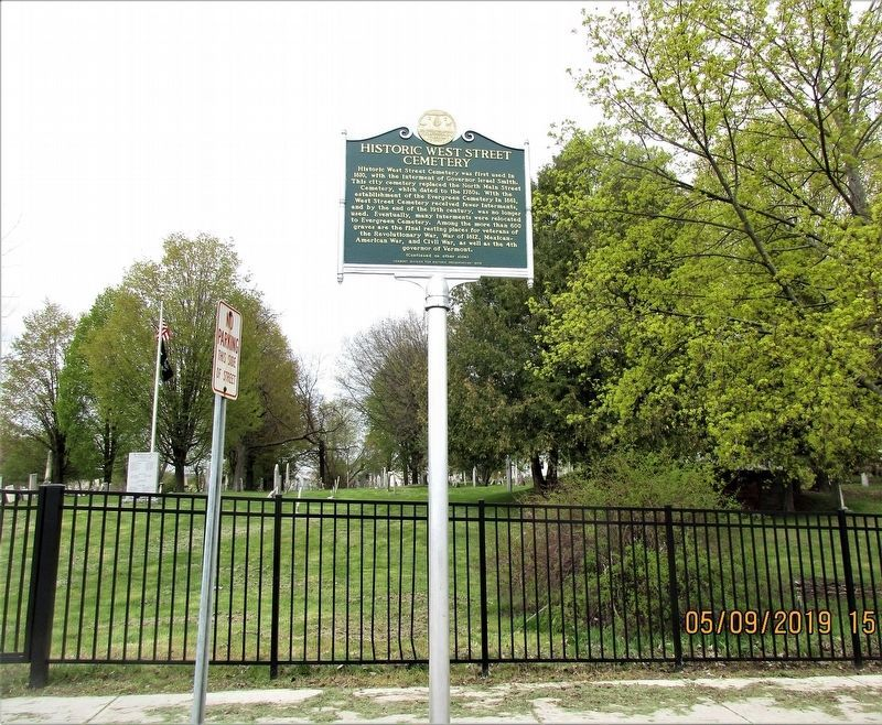 Historic West Street Cemetery Marker image. Click for full size.