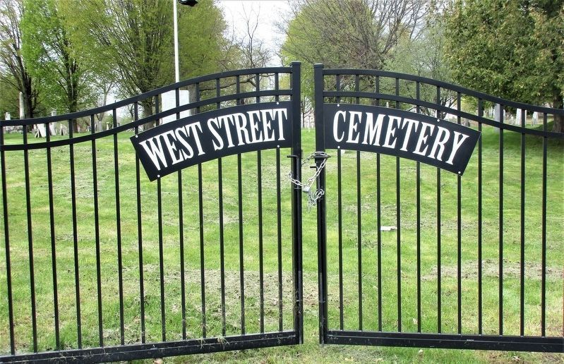 Historic West Street Cemetery Gate image. Click for full size.
