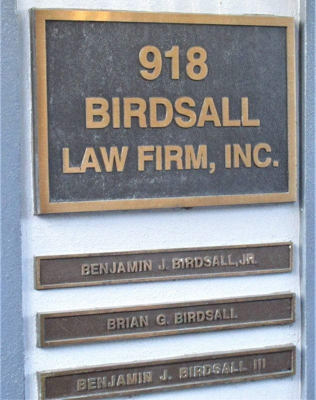 Additional Birdsall Building signage image. Click for full size.