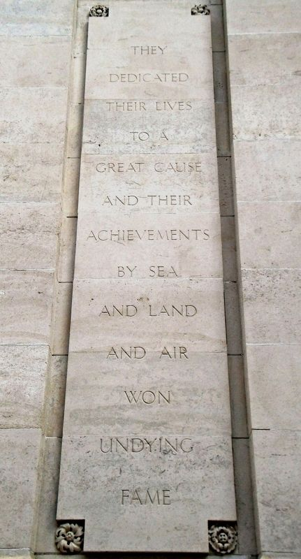 World Wars Memorial Epitaph image. Click for full size.