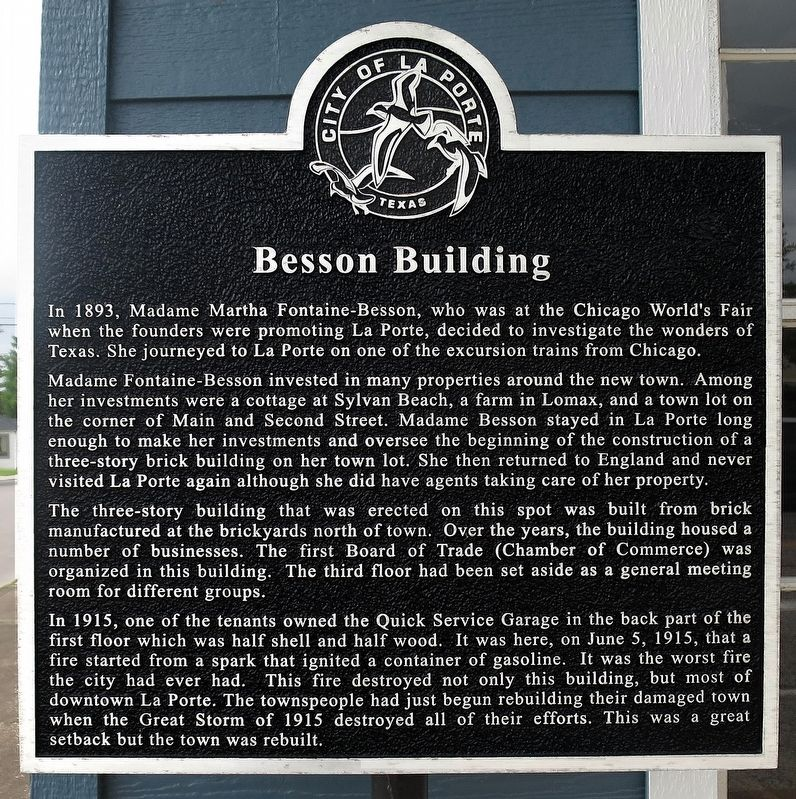 Besson Building Marker image. Click for full size.