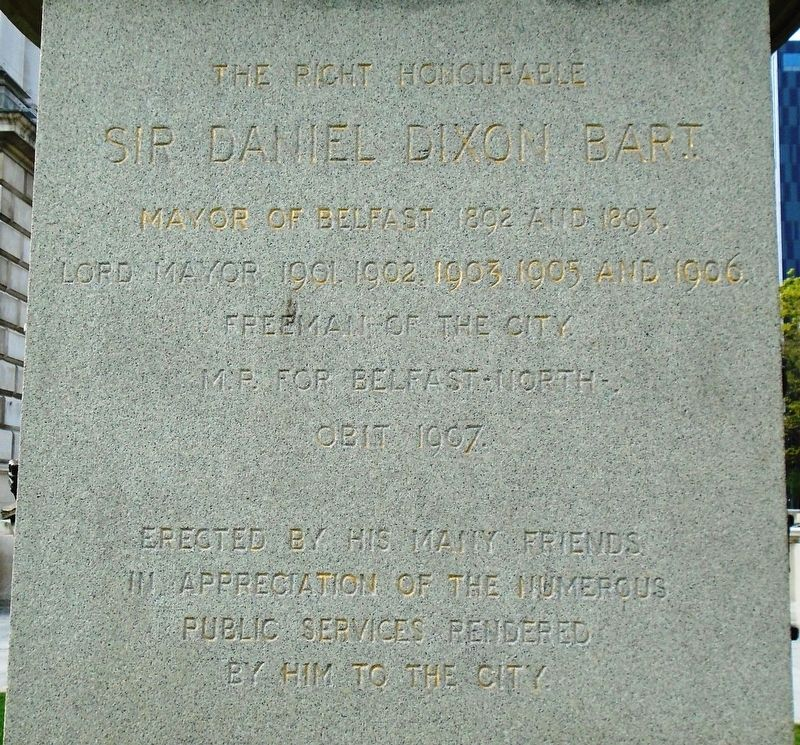 Sir Daniel Dixon Monument Dedication image. Click for full size.