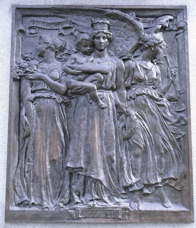 Sir Daniel Dixon Monument - Belfast bas relief image. Click for full size.