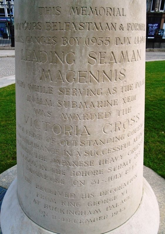 James Joseph Magennis Monument Dedication image. Click for full size.