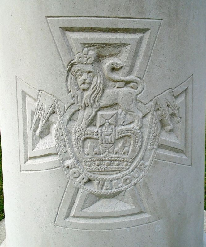 Victoria Cross Engraving on James J. Magennis Monument image. Click for full size.
