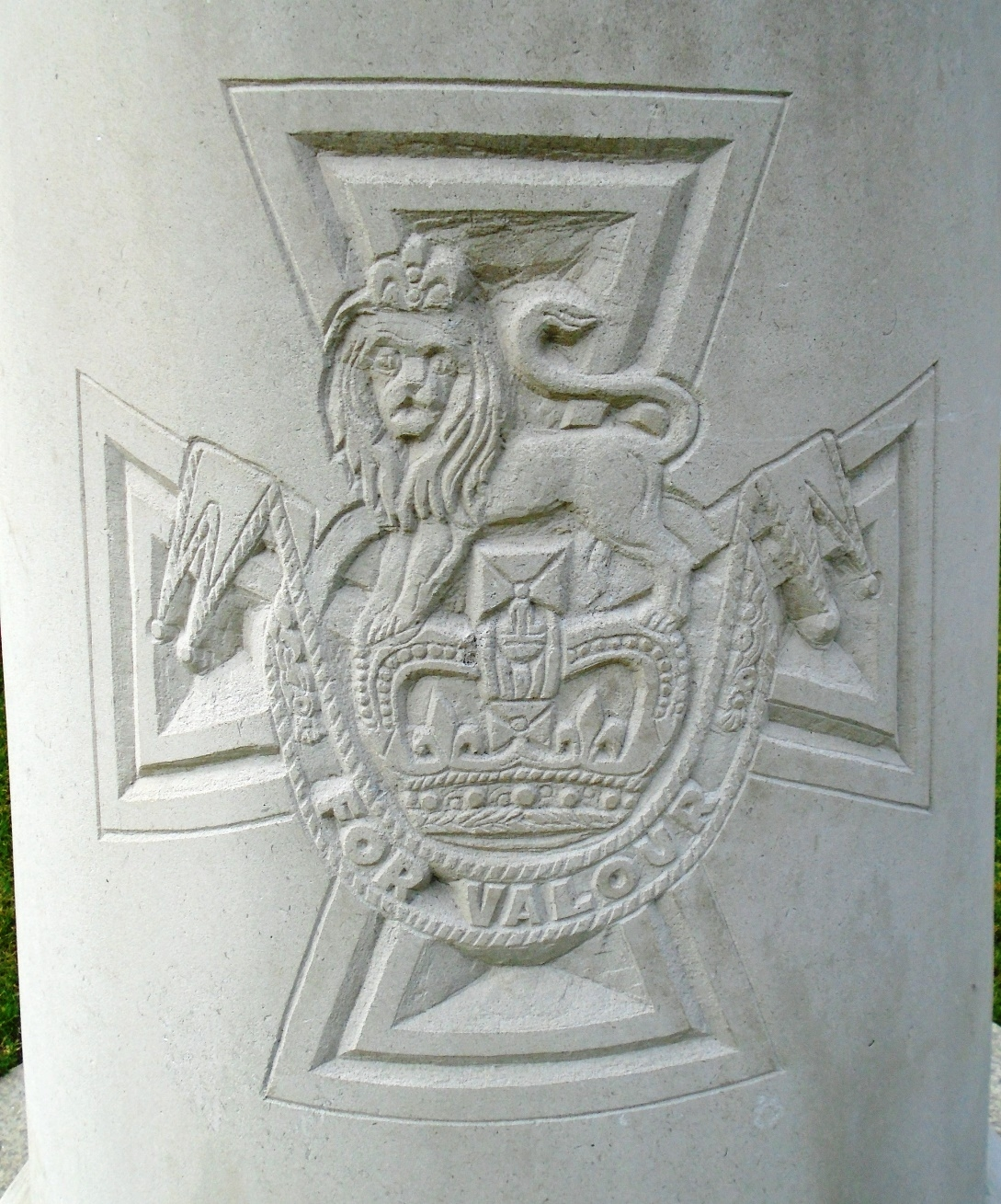 Victoria Cross Engraving on James J. Magennis Monument