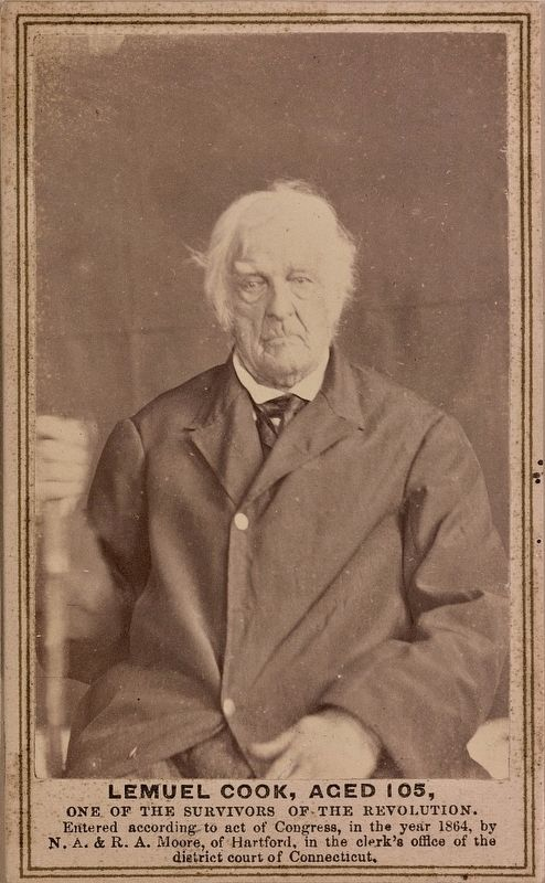 <i>Lemuel Cook, aged 105, one of the survivors of the Revolution </i> image. Click for full size.