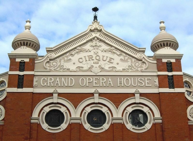 Grand Opera House East Elevation Detail image. Click for full size.