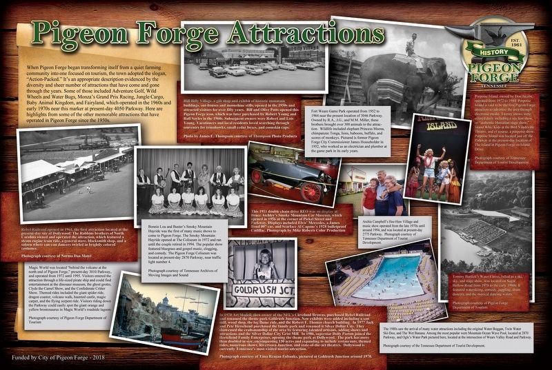 Pigeon Forge Attractions Marker image. Click for full size.