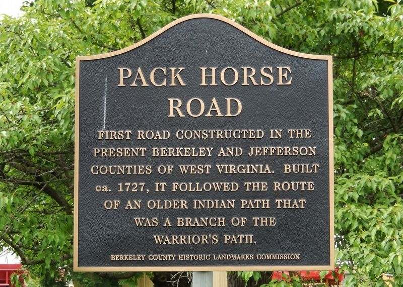 Pack Horse Road Marker image. Click for full size.