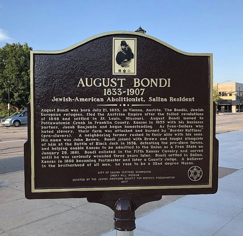 August Bondi (1833-1907) Marker image. Click for full size.