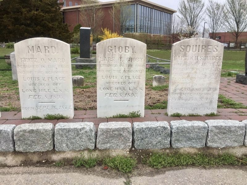 The Wreck of the <i>Louis V. Place</i> - three tombstones image. Click for full size.