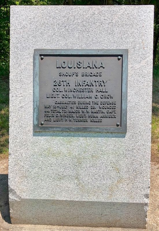 Louisiana 26th Infantry Marker image. Click for full size.