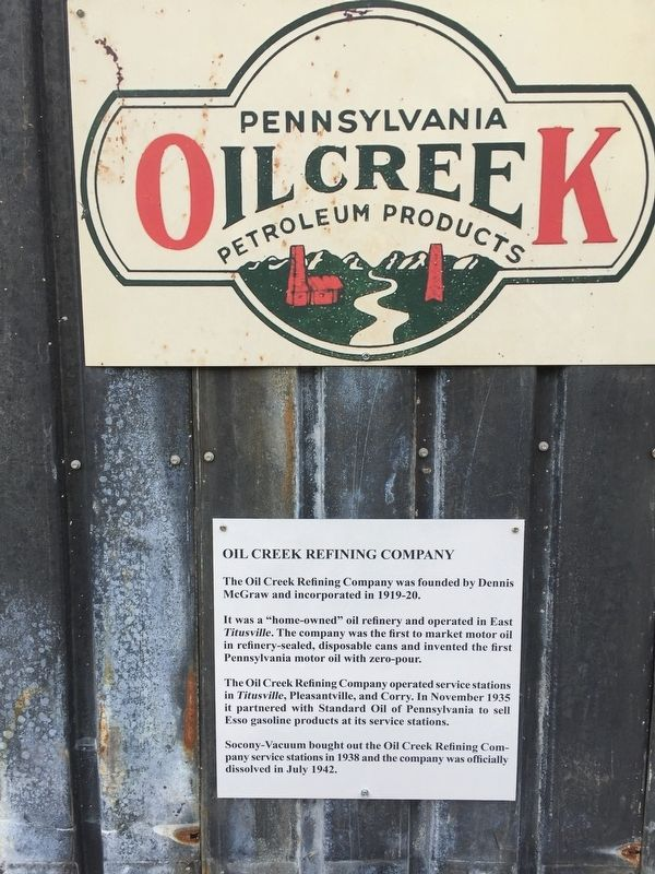 Oil Creek Marker image. Click for full size.
