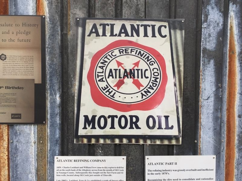 Atlantic Motor Oil Marker image. Click for full size.