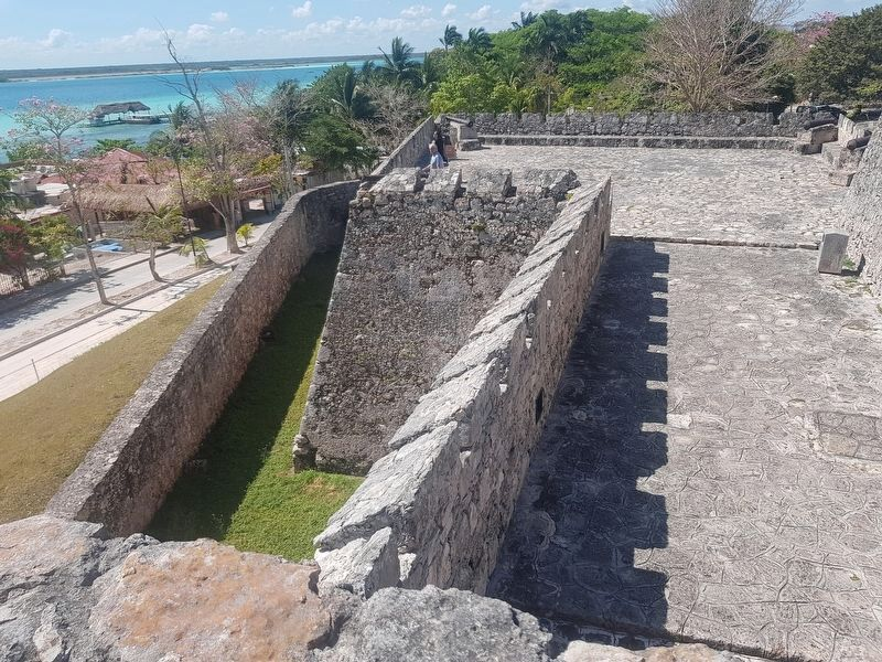 An interior view of the southeast bastion of San Felipe Fort image. Click for full size.