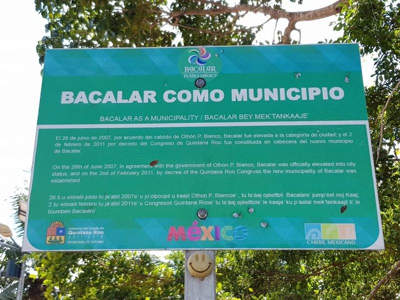 Bacalar as a Municipality Marker image. Click for full size.