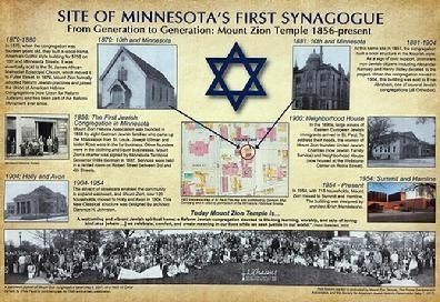 Site of Minnesota's First Synagogue Marker image. Click for full size.