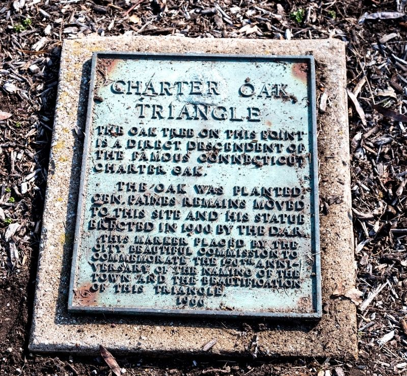 Charter Oak Triangle Marker image. Click for full size.