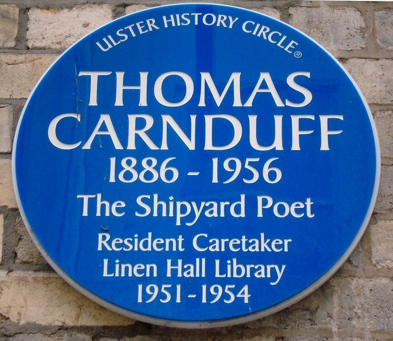 Thomas Carnduff Marker image. Click for full size.