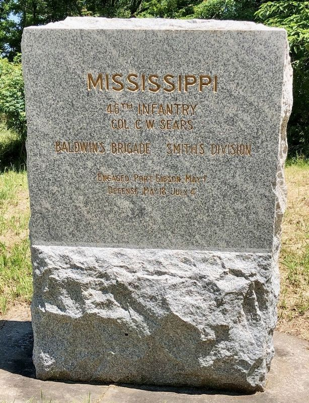 Mississippi 46th Infantry Marker image. Click for full size.