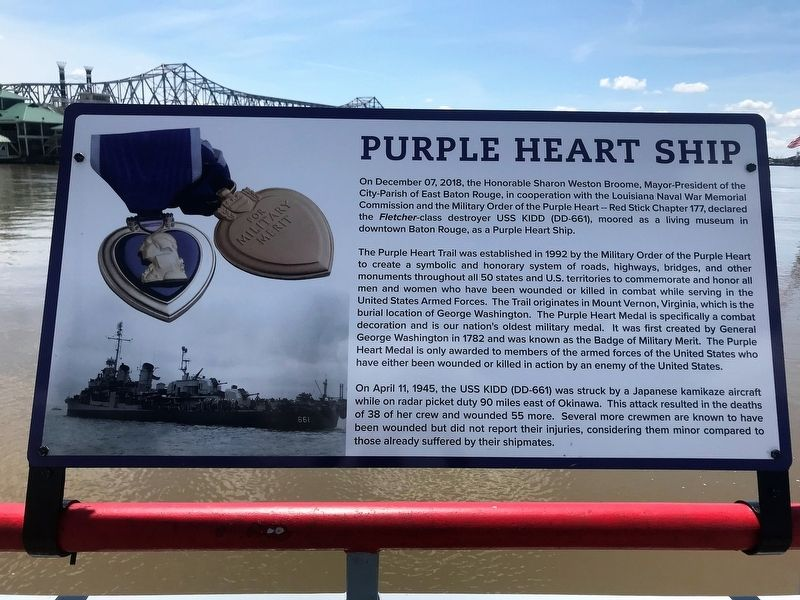 Purple Heart Ship Marker image. Click for full size.