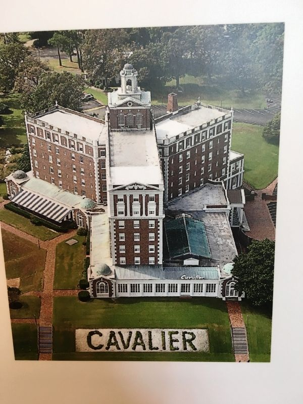 The Cavalier Hotel in the 1930's image. Click for full size.