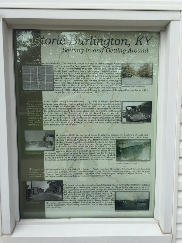 Historic Burlington, KY Marker image. Click for full size.