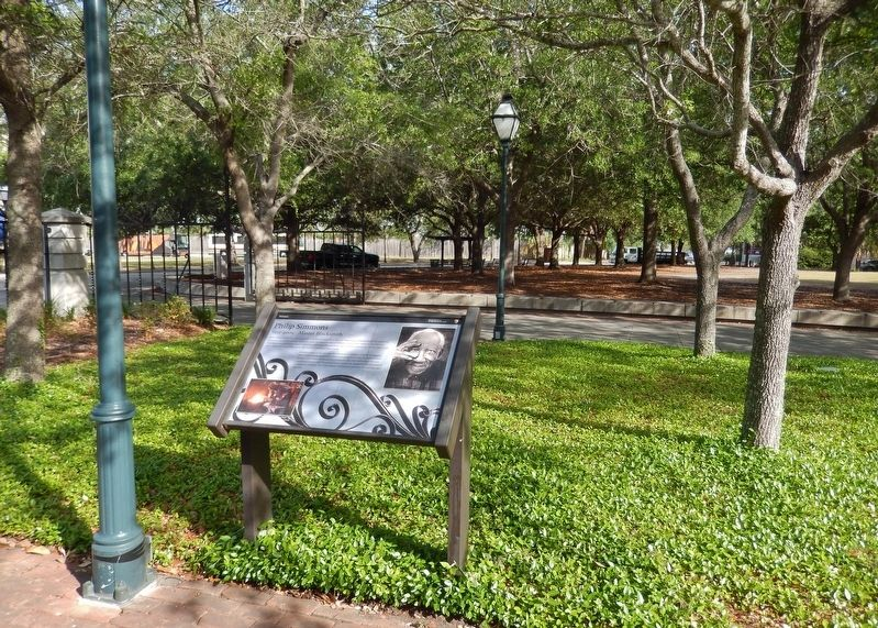 Philip Simmons Marker (<i>wide view • looking northwest from Freedom Lane</i>) image. Click for full size.