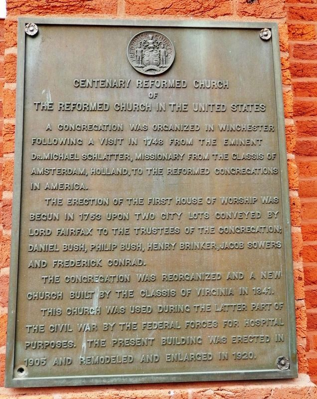 Centenary Reformed Church Marker image. Click for full size.