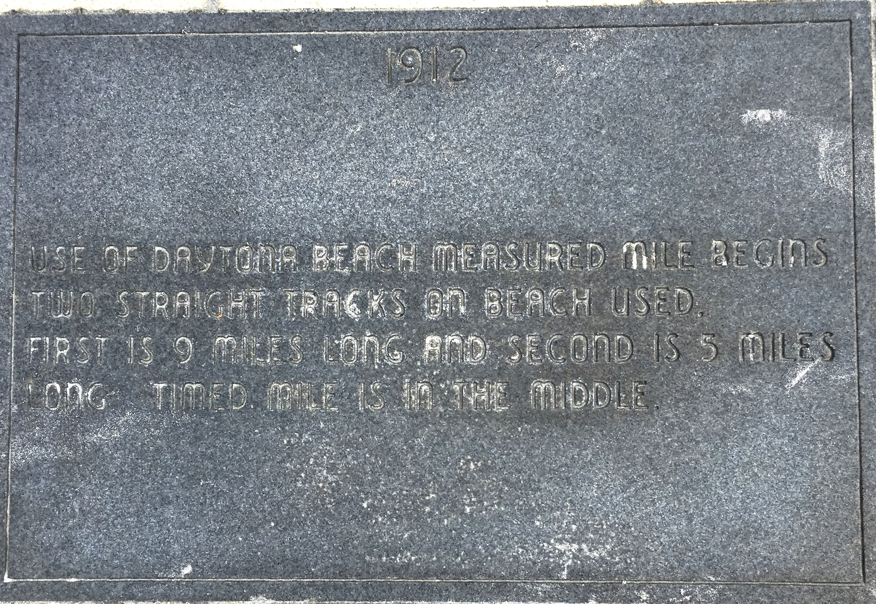Racing on the Beach 1912 Marker