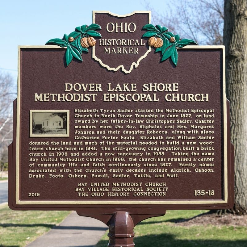 Dover Lake Shore Methodist Episcopal Church Marker image. Click for full size.