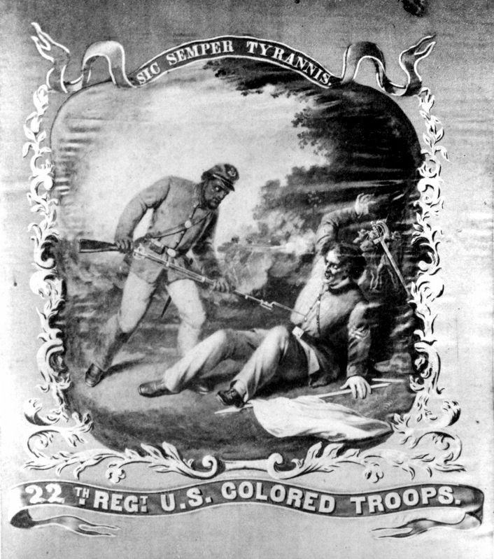 Regimental Colors, 22nd USCT image. Click for full size.