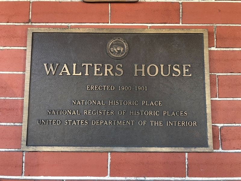 Walters House Marker image. Click for full size.