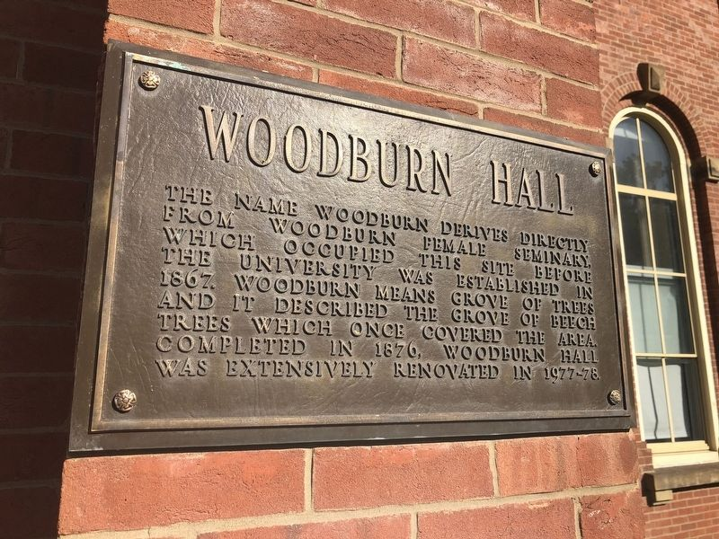 Woodburn Hall Marker image. Click for full size.