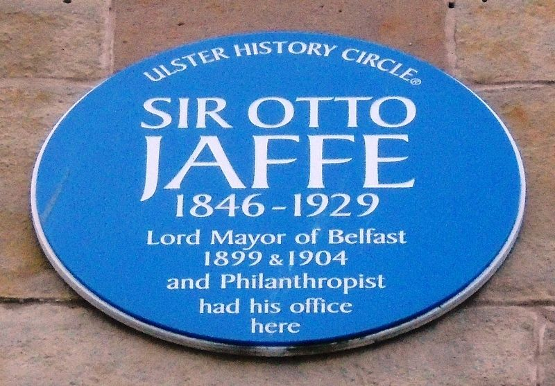 Sir Otto Jaffe Marker image. Click for full size.