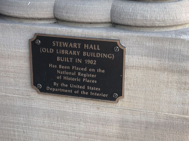 Stewart Hall Marker image. Click for full size.