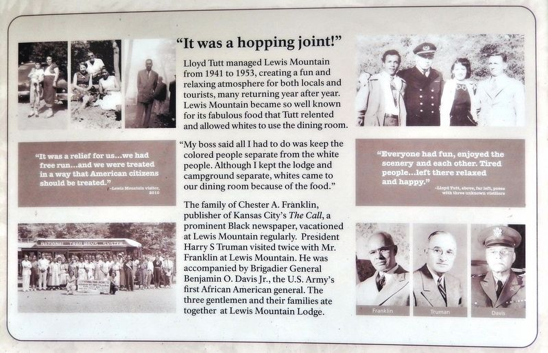 "Lewis Mountain Dilemma Marker<br>(<i>bottom panel • ""It was a hopping joint""</i>) image. Click for full size."