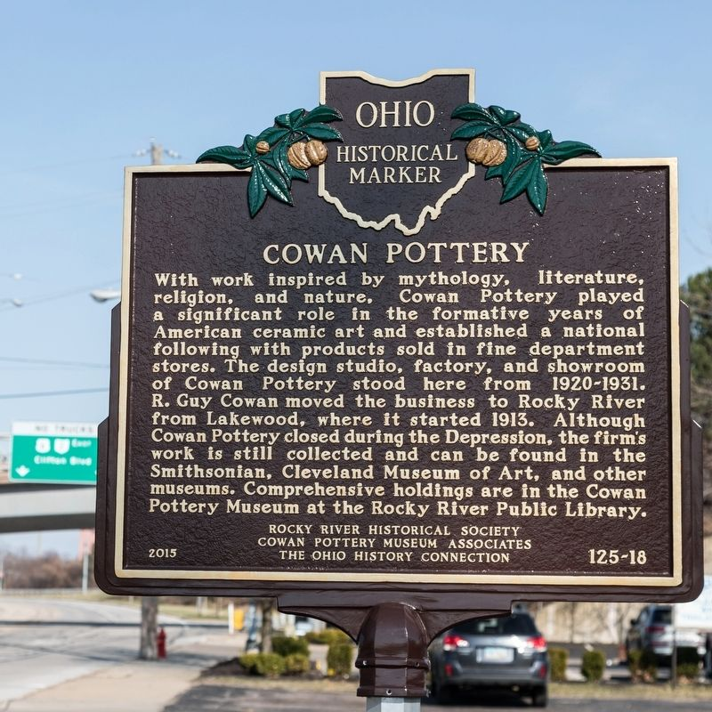 Cowan Pottery Marker image. Click for full size.