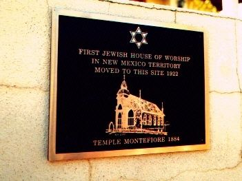 Temple Montefiore, Las Vegas, New Mexico Marker image. Click for full size.