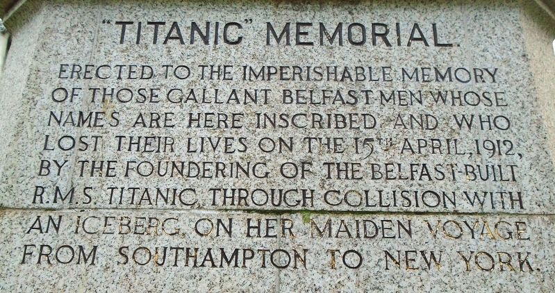 """Titanic"" Memorial Dedication image. Click for full size."