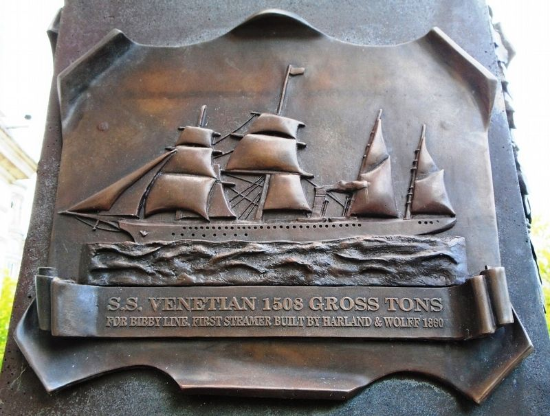 S.S. Venetian bas relief on Pirrie Monument image. Click for full size.