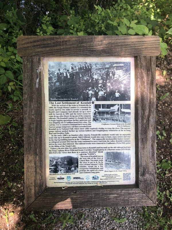 The Lost Settlement of Kendall Marker image. Click for full size.