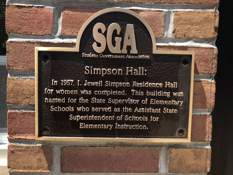 Simpson Hall Marker image. Click for full size.