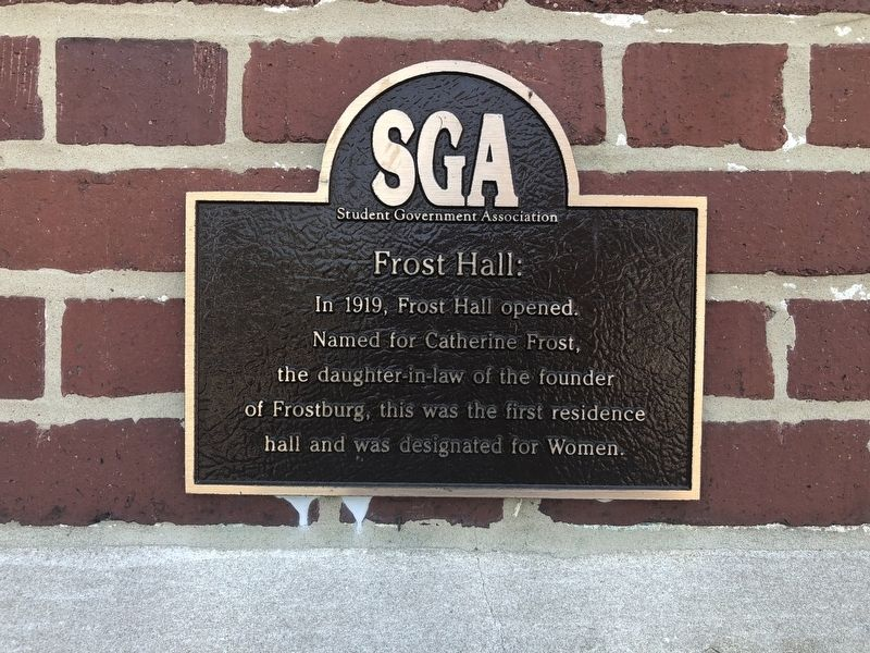 Frost Hall Marker image. Click for full size.