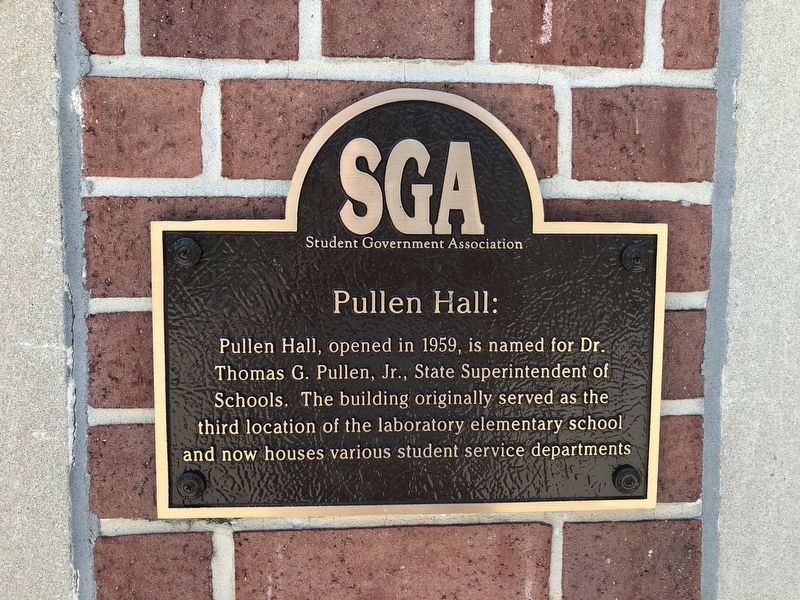 Pullen Hall Marker image. Click for full size.