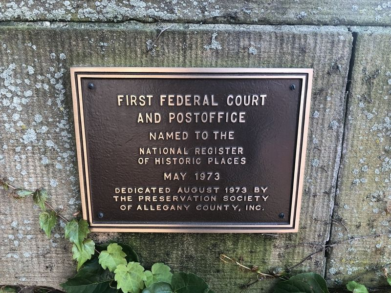 First Federal Court and Postoffice Marker image. Click for full size.