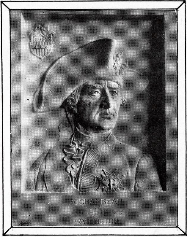 Bust of Rochambeau<br>by James E. Kelly, 1912 image. Click for full size.